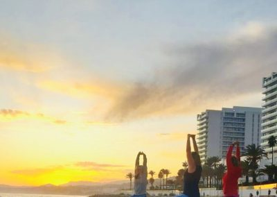 surroundingBenalmadena_Sunset Yoga at the beach